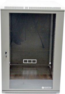 Шкаф монтажный настенный CMS MGSWA 18U Серый (UA-MGSWA188G)