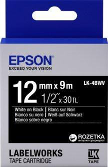 Картридж с лентой Epson LabelWorks LK4BWV 12 мм 9 м Black/White (C53S654009)