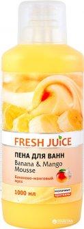 Пена для ванн Fresh Juice Banana & Mango mousse 1000 мл (4823015923173)