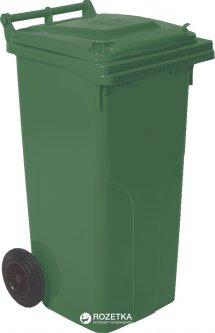 Мусорный контейнер Алеана 540 х 950 х 480 мм на колесах с ручкой 120 л Зеленый (4225kmd)