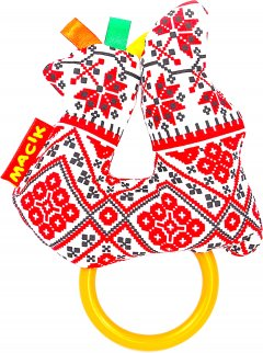 Погремушка Macik Этно-Эко птичка с кольцами (МС 010101-04)
