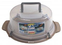 Контейнер для торта круглый Heidrun Cake Carry с крышкой 35 см Серый (202_серый)