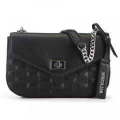Женская кожаная сумка с клапаном 91-4E-622-1 черный