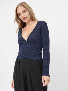 Пуловер Bershka 1505-810_405 L Синий (2000026289838)