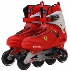 Роликовые коньки Ferrari для фитнеса размер 43 Красно-белые (6947045681495)
