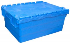 Ящик пластиковый с крышкой Sembol SPKM250 600х400х250 мм (62505050-P00101)
