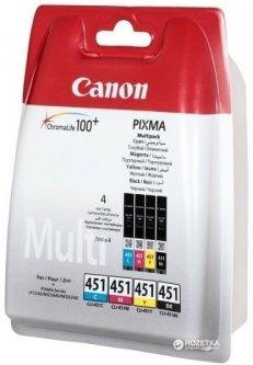Картридж Canon CLI-451 C/M/Y/B Multi Pack (6524B004)