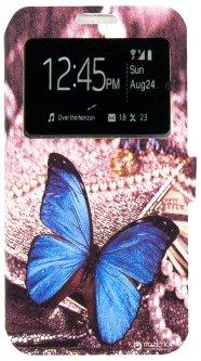 Чехол-книжка Dengos Flipp-Book Call ID для Samsung Galaxy J5 (2016) J510H Бабочка синяя (DG-SL-BK-157)