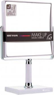 Зеркало на ножке двустороннее х7 Beter Viva Make Up Macro Mirror 14.5 см White (8412122143107)