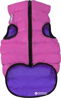Двусторонняя курточка для собак Airy Vest для маленьких собак XS 22 Розово-фиолетовая (1710)