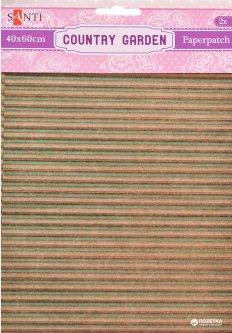 Бумага для декупажа Santi Country garden 2 листа 40 х 60 см (952519) (5009079525198)