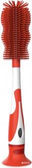 Щётка ершик для мытья бутылок и сосок Bibi 2 в 1 Оранжевая (114010 Orange) (7610472855799)