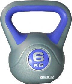Гиря LiveUp Plastic Kettel Bell 6 кг Grey/Purple (LS2047-6)