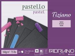 Cклейка для пастели Fabriano Tiziano A4 23х30.5 см 160 г/м2 24 листов Черная бумага (8001348159032)