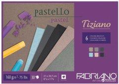 Cклейка для пастели Fabriano Tiziano A4 21х29.7 см 160 г/м2 30 листов Холодные цвета (8001348156895)