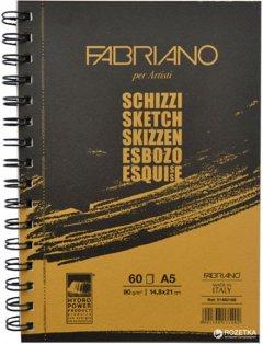 Альбом для эскизов на спирали Fabriano Schizzi Sketch А5 14.8х21 см 90 г/м2 60 листов (8001348171492)