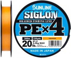 Шнур Sunline Siglon PE х4 300 м # 1.2/0.187 мм 9.2 кг Оранжевый (16580954)