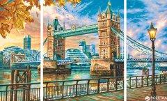 """Художественный творческий набор-триптих Schipper """"Тауэрский мост в Лондоне"""" 50х80 см (9260752) (4000887927526)"""