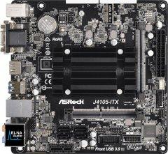 Материнская плата ASRock J4105-ITX (Intel Celeron J4105, SoC, PCI-Ex1)