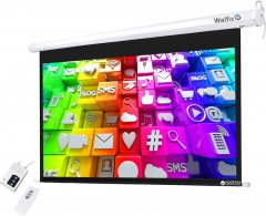 """Walfix TLS-7 моторизированный настенный экран 92"""" (16:9) 203х114 см"""