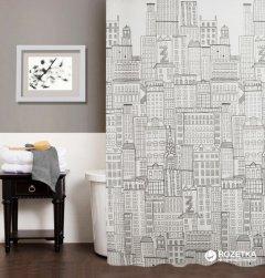 Шторка для ванной Мій Дім City 180x180 см NJ10254