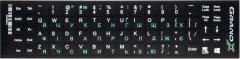 Наклейка на клавиатуру Grand-X 68 клавиш Украинский / Английский (GXDGUA)