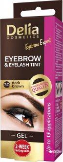 Гель-краска для бровей Delia cosmetics Pro color 3.0. Темно-коричневый 15 мл (5901350441985)