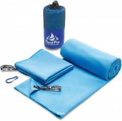 Полотенце из микрофибры для спорта и туризма Fjord Pro 123x62 см + 61х31 см Blue (fp-mt2-bl)