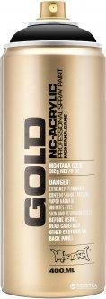 Акриловая краска-спрей Montana Gold S9000 Черный шок 400 мл (Black) (4048500285783)