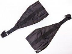 Петли атлетические подвесные Onhillsport B1 карабин малый Черные (OS-0336)