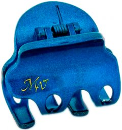 Заколка для волос Mari N. Краб 4 х 3.5 см Синяя металлик (NK393-658BLU21) (2000013368010)