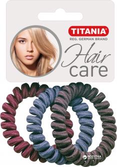 Набор резинок для волос Anti Ziep диаметр 4 см Titania 7929 3 шт (7929)