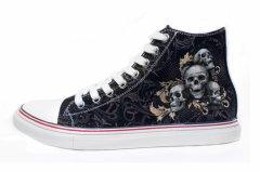 """Кеди Rock Shoes """"Skulls (40-46)"""" Чорний (00000003335) 41 (26,9 см)"""