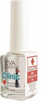 Лак для ногтей EVA cosmetics Clinik Vinil protector 3 в 1 Прозрачный 12 мл (5901345745364)