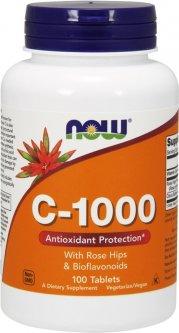 Витамины Now Foods Витамин С-1000 с шиповником + биофлавоноиды 100 таблеток (733739006851)
