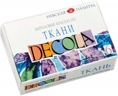 Краски по ткани акриловые Невская палитра Декола 6 цветов по 20 мл (4607010582623)