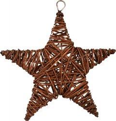 Елочная игрушка Новогодько (YES! Fun) Звезда 15 см Коричневая (973294) (5056137144280)