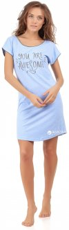 Ночная рубашка BARWA garments 0147 S Голубая (2110001471032)