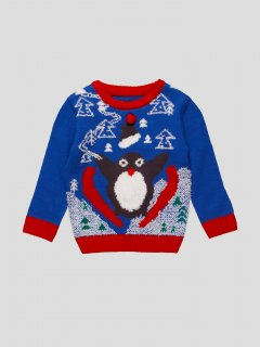 Светр з пінгвіном Adams Kids 9002-104/110 104/110 Синій