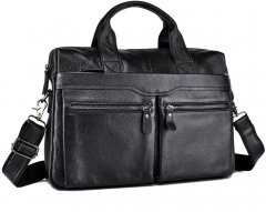 Мужская кожаная сумка-портфель Bexhill A25-7122A Черная