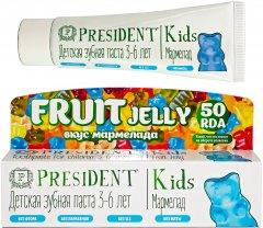 Детская зубная паста PresiDENT Kids Fruit Jelly Мармелад от 3 до 6 лет 50 мл (4612729880281)