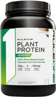Протеин R1 (Rule One) Plant Protein + Energy 640 г Холодный кофе (837234109069)