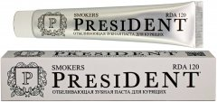 Зубная паста PresiDENT Smokers для курильщиков 75 мл (4612729880731)