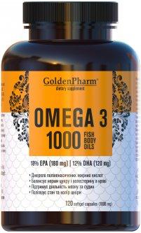 Жирные кислоты Голден-фарм Омега-3 1000 мг 120 желатиновых капсул (4820183470690)
