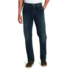Чоловічі джинси Eddie Bauer Men Authentic Jeans Relaxed Fit LONG DK HERITAGE (36W32L)