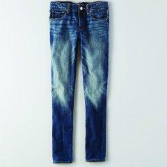 Жіночі джинси скінні AEO Skinny Jean BLUE (XXS)