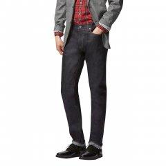 Чоловічі джинси скінні Uniqlo Slim Fit Selvedge NAVY (32W32L)