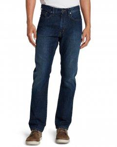 Модні чоловічі джинси Eddie Bauer Mens Flex Джинси Slim Fit RIVER ROCK (34W34L)