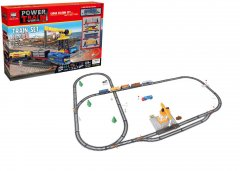 Игровой набор Maya Toys Железная дорога с подъёмным краном (2082) (4812501160734)