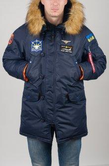 Зимова куртка Olymp N-3B А-8 Аляска з нашивками L Синя